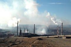 Catástrofe de la ecología en Norilsk, Rusia Foto de archivo