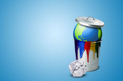 Catástrofe ecológica da terra Fotos de Stock