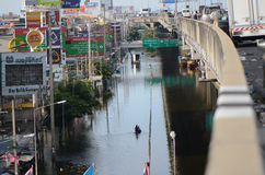 Catástrofe en Bangko a partir del 22.11.2 fotos de archivo libres de regalías