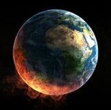 Catástrofe global Foto de archivo libre de regalías