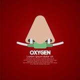 Catéter nasal del oxígeno respiratorio Fotos de archivo