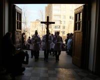 Católicos en Rusia Imagen de archivo libre de regalías