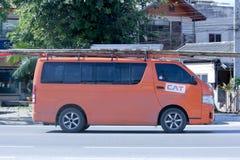 CAT电信的范truck 免版税图库摄影