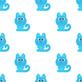 CAT символа животных безшовной предпосылки смешной Стоковая Фотография