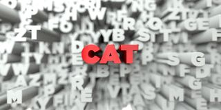 CAT -在印刷术背景的红色文本- 3D回报了皇族自由储蓄图象 向量例证