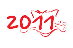 Cat(1).jpg. Year of the cat 2011 new year vector Stock Photo