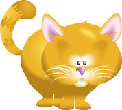 Cat. A cute kitty cat! No meshes used, all blends or gradients Stock Photos
