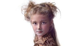 Cat. A girl with cat's make-up Royalty Free Stock Images