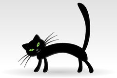 The Cat. Graphic illustration of The Cat Stock Photos
