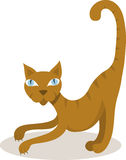 Cat. Vector illustration of yellow cat Stock Images