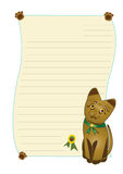 Cat. Cartoon  cat  on white background Royalty Free Stock Photography
