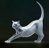 Cat. Sculpture of cat Royalty Free Stock Image