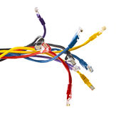 CAT 5 Ehernet patch cables isolated Stock Photo