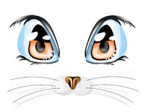 Cat. Vector illustration with cat`s eyes Royalty Free Stock Photography