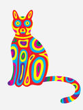 Cat abstract colorfully Stock Photos