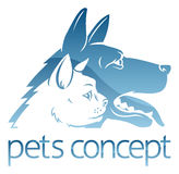 Cat ad Dog Pets Concept Stock Images