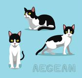 Cat Aegean Cartoon Vector Illustration Fotografering för Bildbyråer
