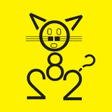 Cat All Type. Study design class royalty free illustration