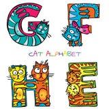 Cat alphabet vector illustration