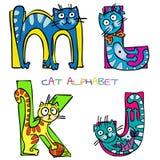 Cat alphabet stock illustration