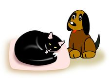Free Cat And Dog Stock Image - 28534321
