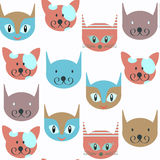Cat animals seamless pattern. It is located in swatch menu, vect Royalty Free Stock Photos