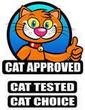 Cat Approved Seal vector illustration