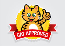 Cat Approved Seal / Sticker Royalty Free Stock Photos
