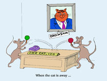 When the Cat is Away the Mice Will Play Royalty Free Stock Photo