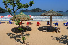 Cat ba cat coi cat co beach Stock Image