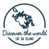 Cat Ba Island Map Outline Fotografia Stock Libera da Diritti