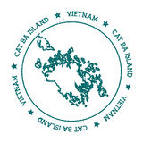 Cat Ba Island vector map. Stock Photos