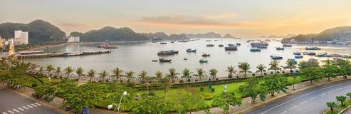 Cat Ba island viewpoint panorama Royalty Free Stock Photo
