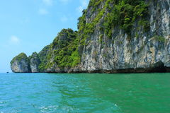 Cat ba islands and rock formations Stock Image