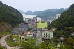 Cat Ba town Royalty Free Stock Photography
