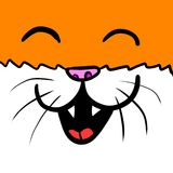 Cat Background orange heureuse Illustration de Vecteur