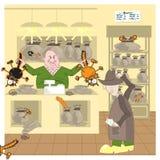 Cat_in_Bag Stock Foto