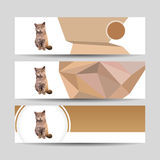 Cat Banner Stockbild