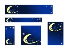 Cat banners royalty free stock photography