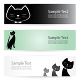 Cat banners Stock Photography
