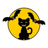 Cat and Bats Royalty Free Stock Photography