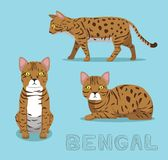 Cat Bengal Cartoon Vector Illustration Royalty-vrije Stock Afbeelding