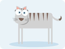 Cat with big eye. Cartoon cat with big eye Royalty Free Stock Photography