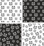 Cat Big & piccolo insieme senza cuciture stato allineato & casuale del modello Immagini Stock Libere da Diritti