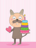 Cat Birthday_eps Stock Photography