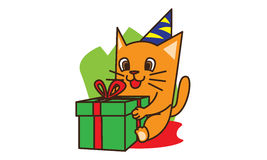 Cat Birthday Royalty Free Stock Photography