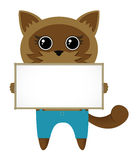 Cat with blank sign Royalty Free Stock Images