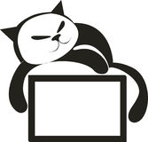Cat with board 4. Vector. Cat with message board vector illustration