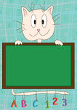 Cat Board Learning_eps Stock Photo