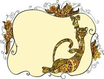 Cat and bow Royalty Free Stock Images